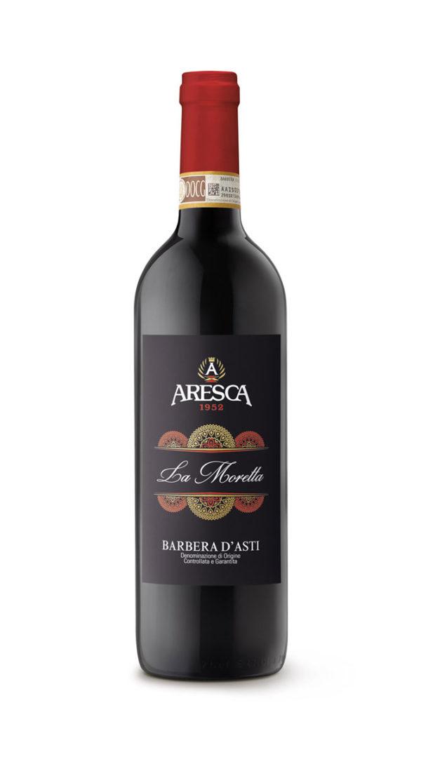 bottiglia di Barbera d'Asti LA MORETTA Aresca