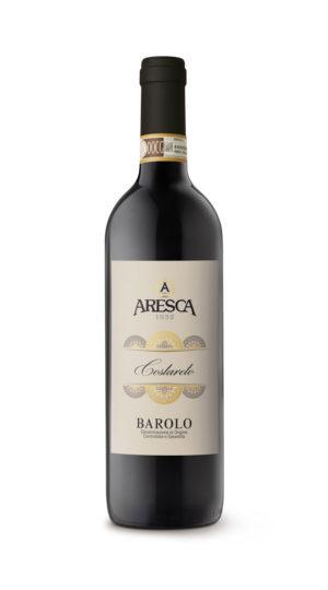 bottiglia di vino rosso - barolo di Aresca Vini