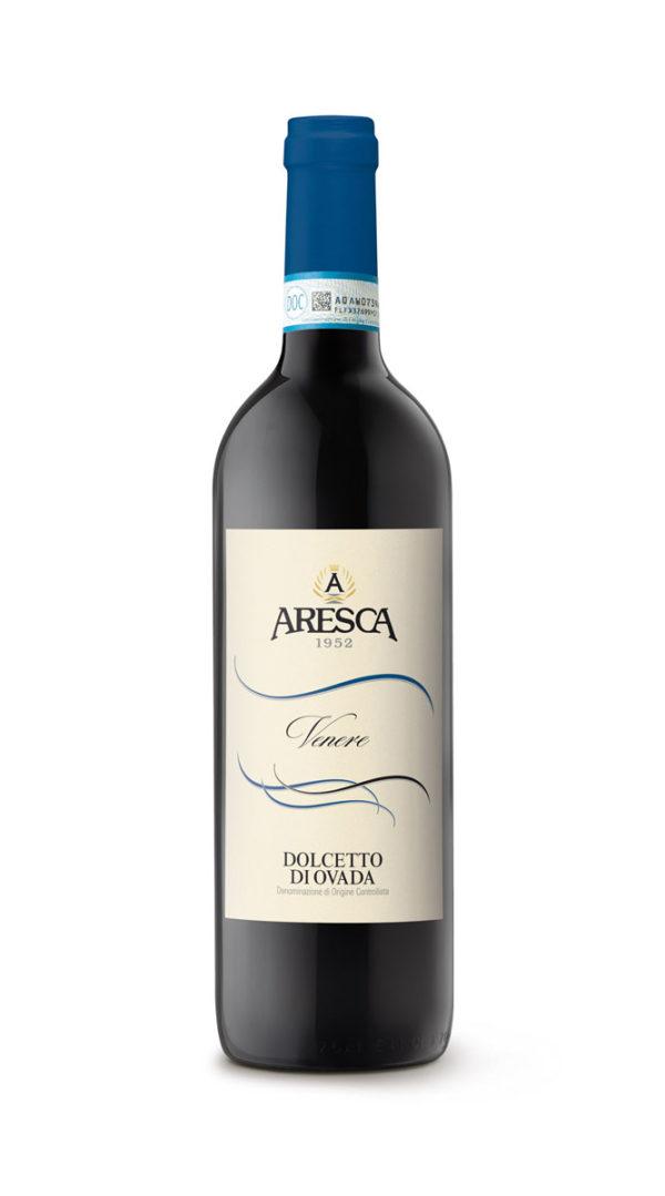 bottiglia di vino rosso Dolcetto Ovada Aresca