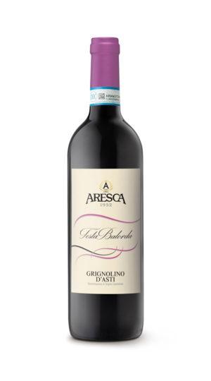 bottiglia di rosso con Grignolino di Asti di Aresca