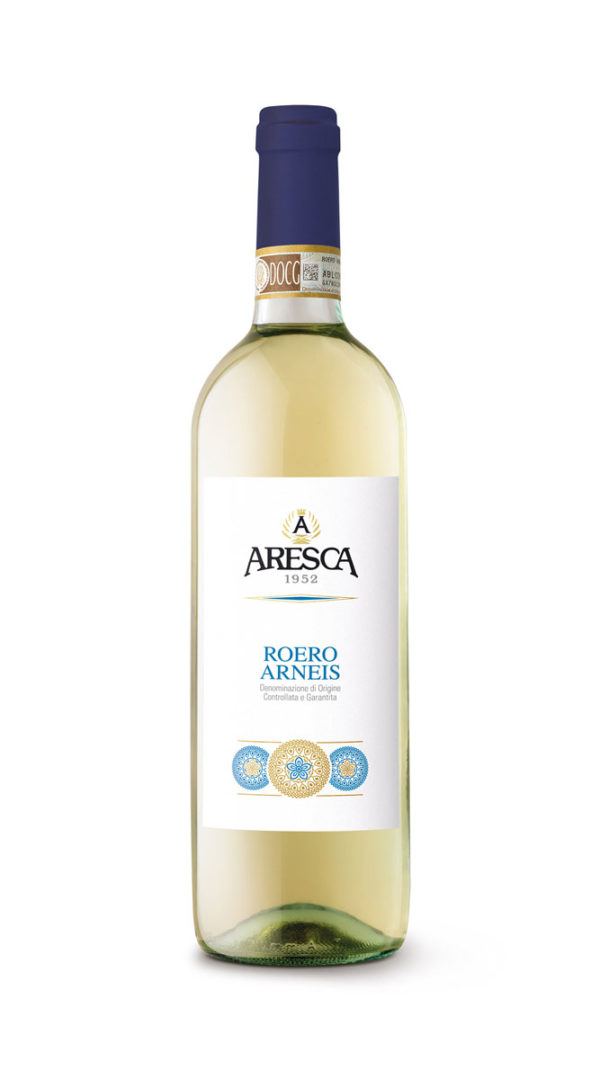 bottiglia di bianco Arneis di Aresca