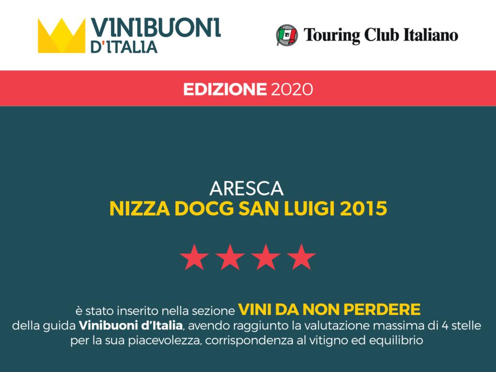 Attestato Vinibuoni d'Italia 2020