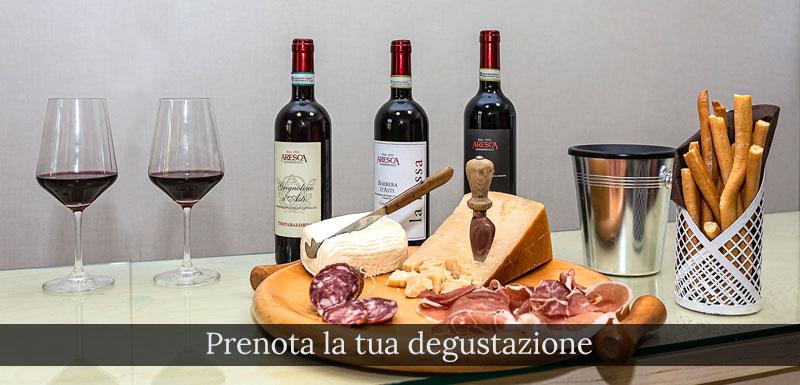 buffet degustazione vini aresca
